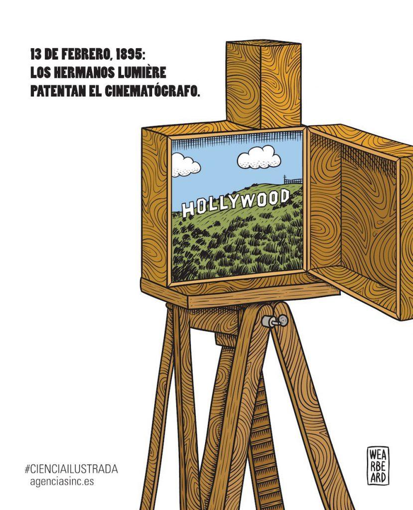 Los hermanos Lumière patentan el cinematógrafo: 13 de febrero de 1895