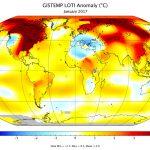 Enero de 2017, el tercer enero más caluroso en 137 años