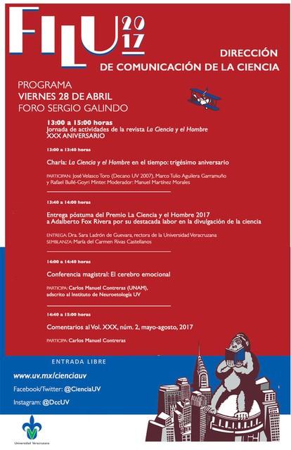 """Jornada por la revista """"La ciencia y el hombre"""" en la FILU 2017 de la UV"""