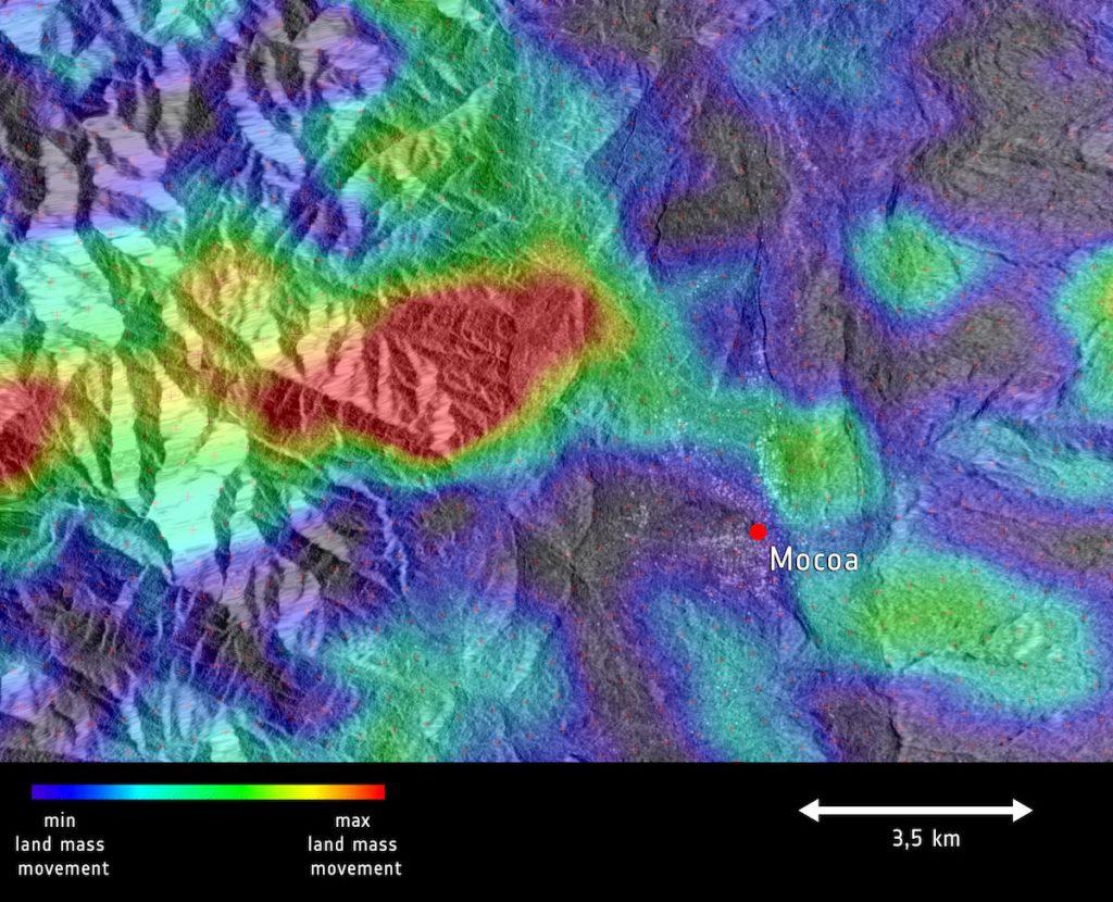 La avalancha de Mocoa, que provocó 260 muertes, vista por el satélite Sentinel-1