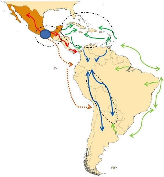 Localización geográfica de diferentes poblaciones de maíz y sus perfiles genéticos- Bedoya et al (2017)