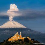 Zonas de volcanes -incluso en crecimiento- invadidas por seres humanos, en México