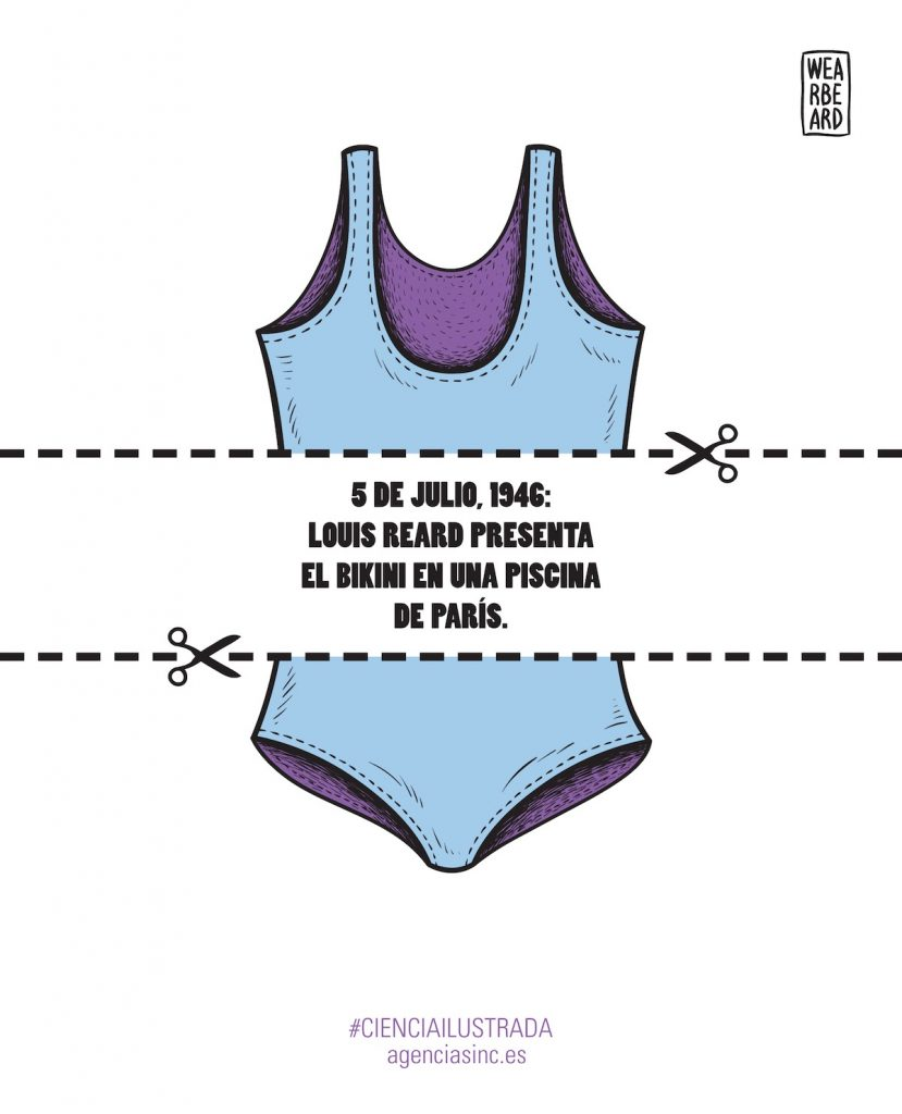 El bikini, surgido de una competencia para ver quien hacia el traje de baño más pequeño