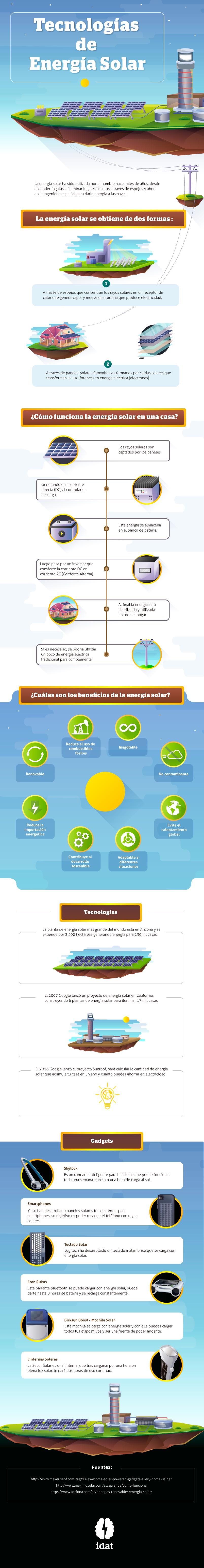 ¿Cómo se obtiene la energía solar?. Y formas de aprovecharla (Infografía)