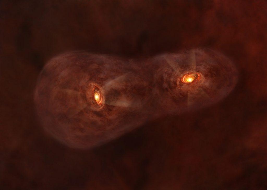 Sistema estelar gemelo IRAS 04191+1523- ALMA (ESO:NAOJ:NRAO)