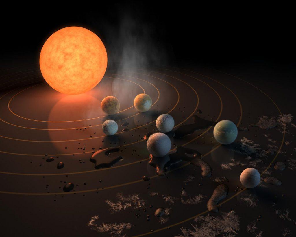 Siete planetas parecidos a la Tierra, podrían carecer de atmósfera