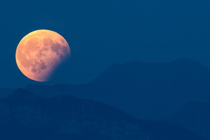 Eclipse lunar del 7 de agosto, visto desde Berna, Suiza- EFE