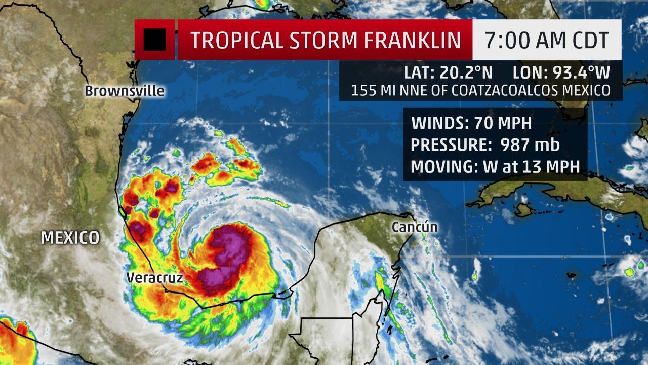 Franklin a las 7 am del 9 de agosto