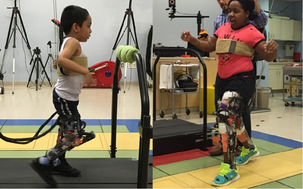 Un exoesqueleto para que niños con parálisis cerebral y marcha agachada, puedan caminar