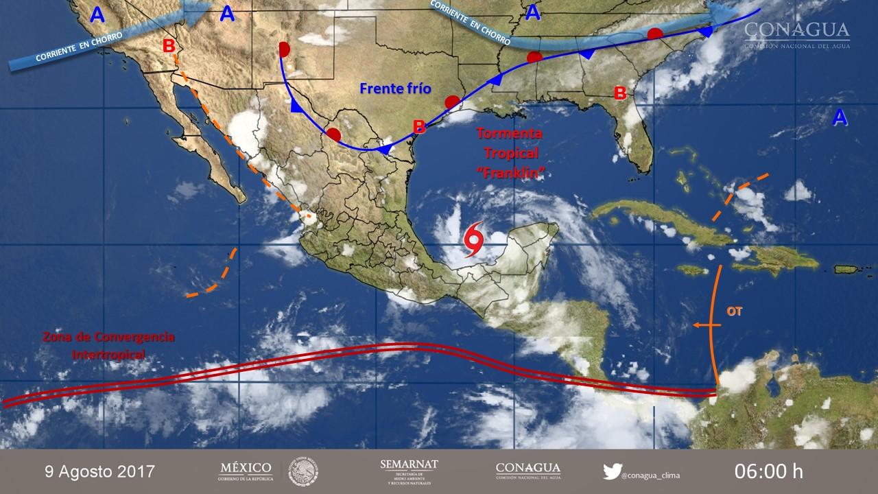 Vista metereológica de México