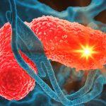 Rayo láser para eliminar bacterias