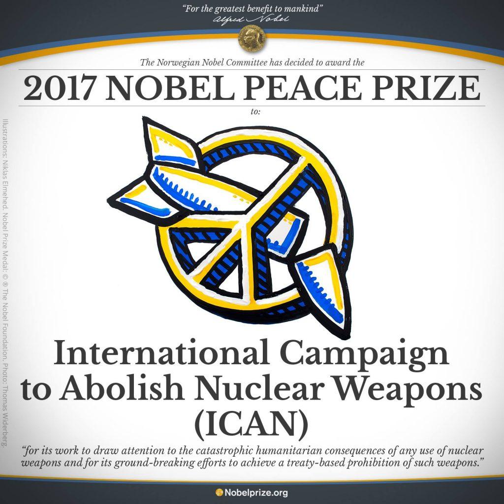 Campaña Internacional para la Abolición de las Armas Nucleares (ICAN)- Nobel de la Paz 2017
