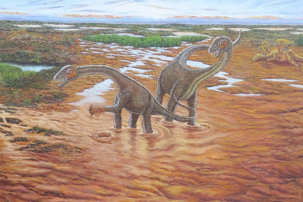 Encuentran un dinosaurio en EE.UU. con antepasados europeos