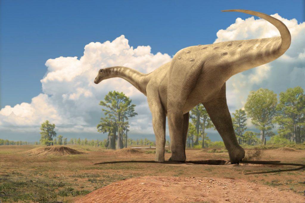 Hembra de titanosaurio preparándose para la puesta- Óscar Sanisidro, Institut Català de Paleontologia Miquel Crusafont (ICP)