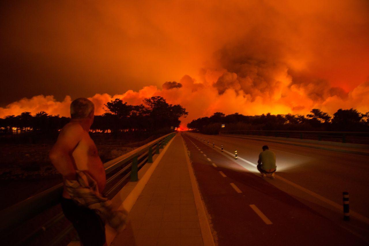 Incendio en Praia da Vieira, Portugal