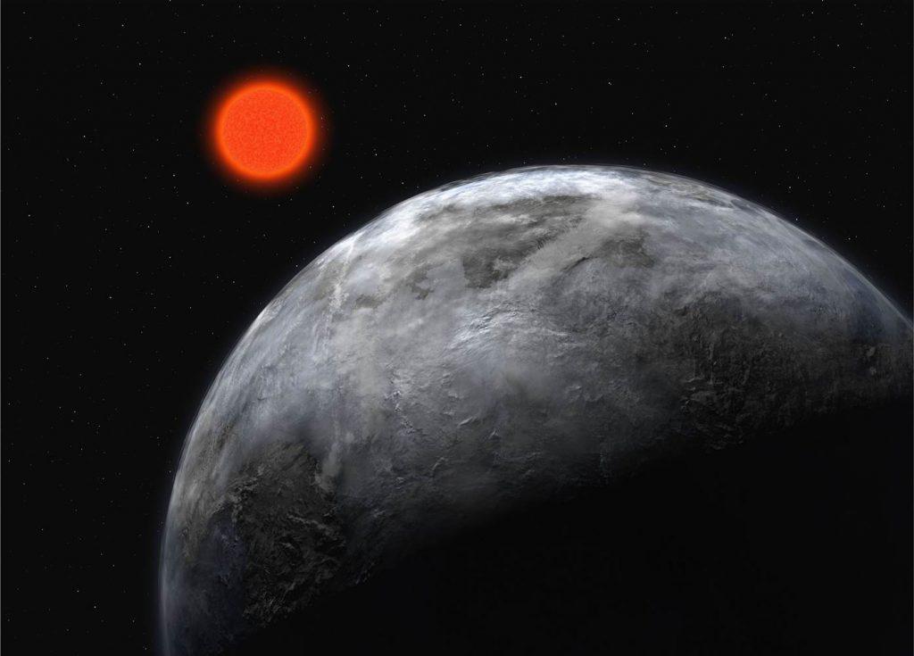 La estrella Gliese 581 y su planeta, Gliese 581c- ESO