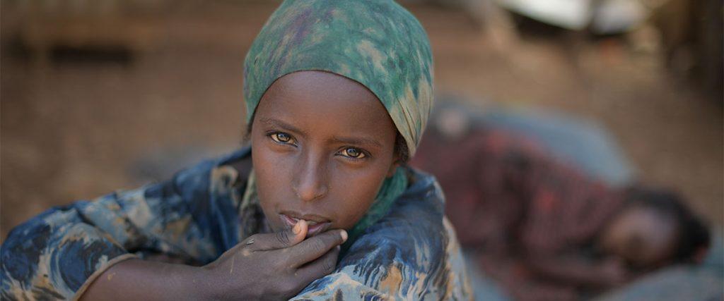 Niña en un campamento de refugiados en Baidoa, Somalia- Tobin Jones, ONU foto