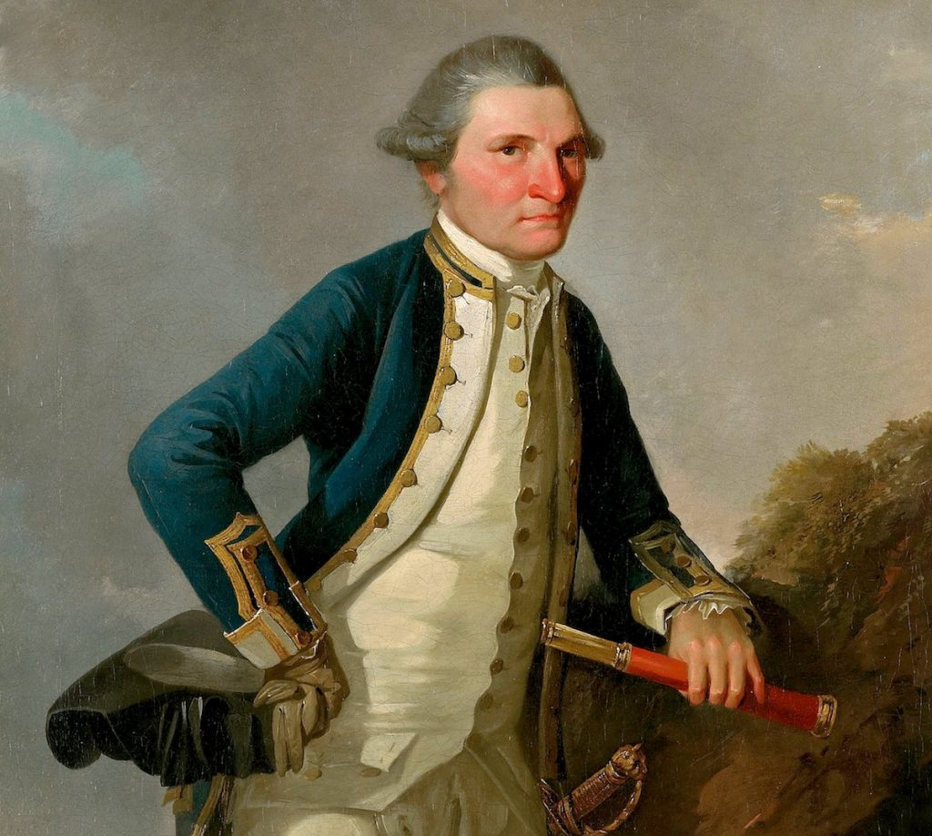 Retrato de James Cook, John Webber, 1780