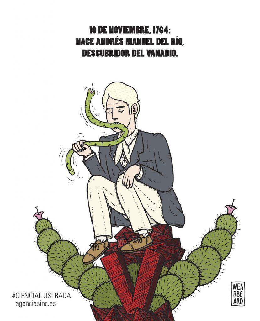 Andrés Manuel del Río Fernández, el verdadero descubridor del Vanadio