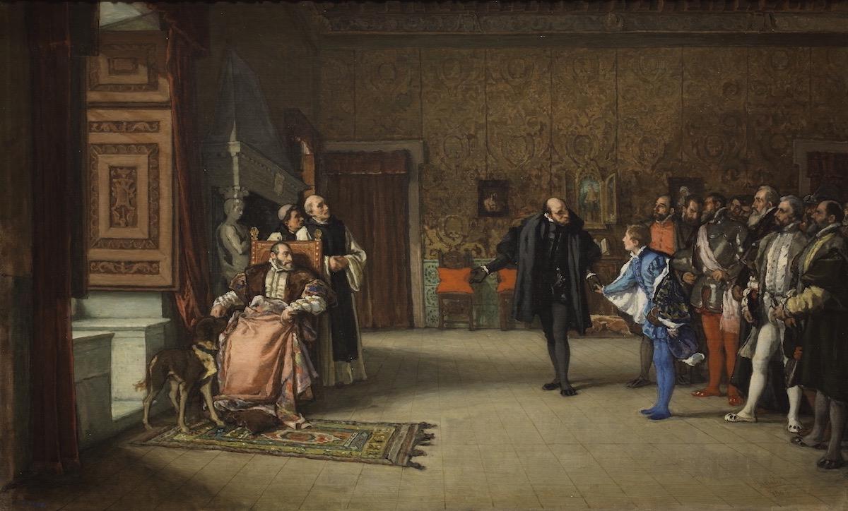 Presentación de don Juan de Austria al emperador Carlos V en Yuste, Eduardo Rosales Gallina, 1869- Museo Del Prado