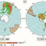 Las cenizas de los volcanes de la Antártida podrían afectar al tráfico aéreo