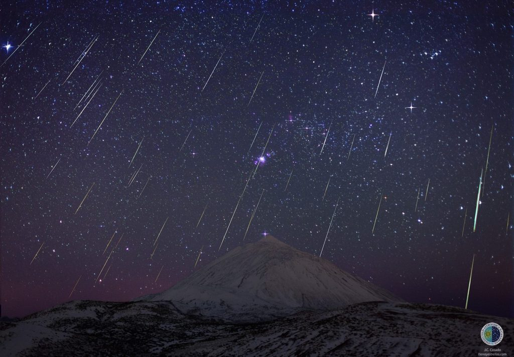 Las Geminidas, éste año empiezan el 7 de diciembre y tendrán su mayor intensidad el 13