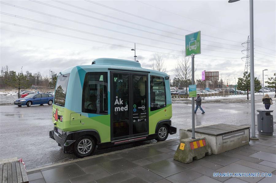 Autobús sin conductor en Suecia