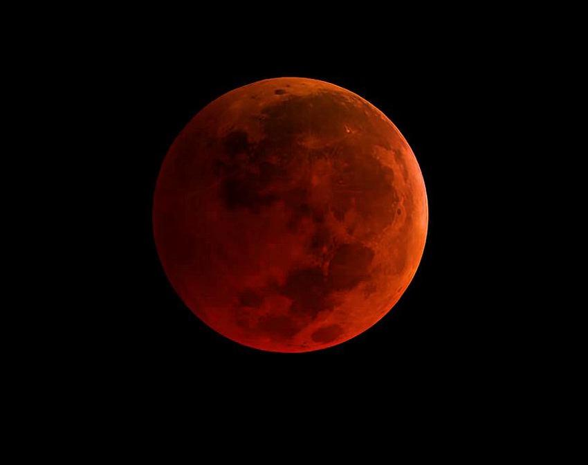 Super azul Luna de sangre del 31 de enero de 2018- NASA