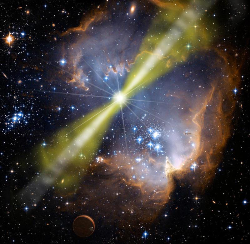 La mayor explosión en el Universo detectada desde la Tierra, GRB 080319B- NASA