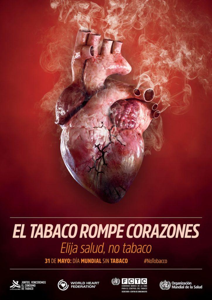 El tabaco rompe corazones. Día Mundial sin Tabaco 2018