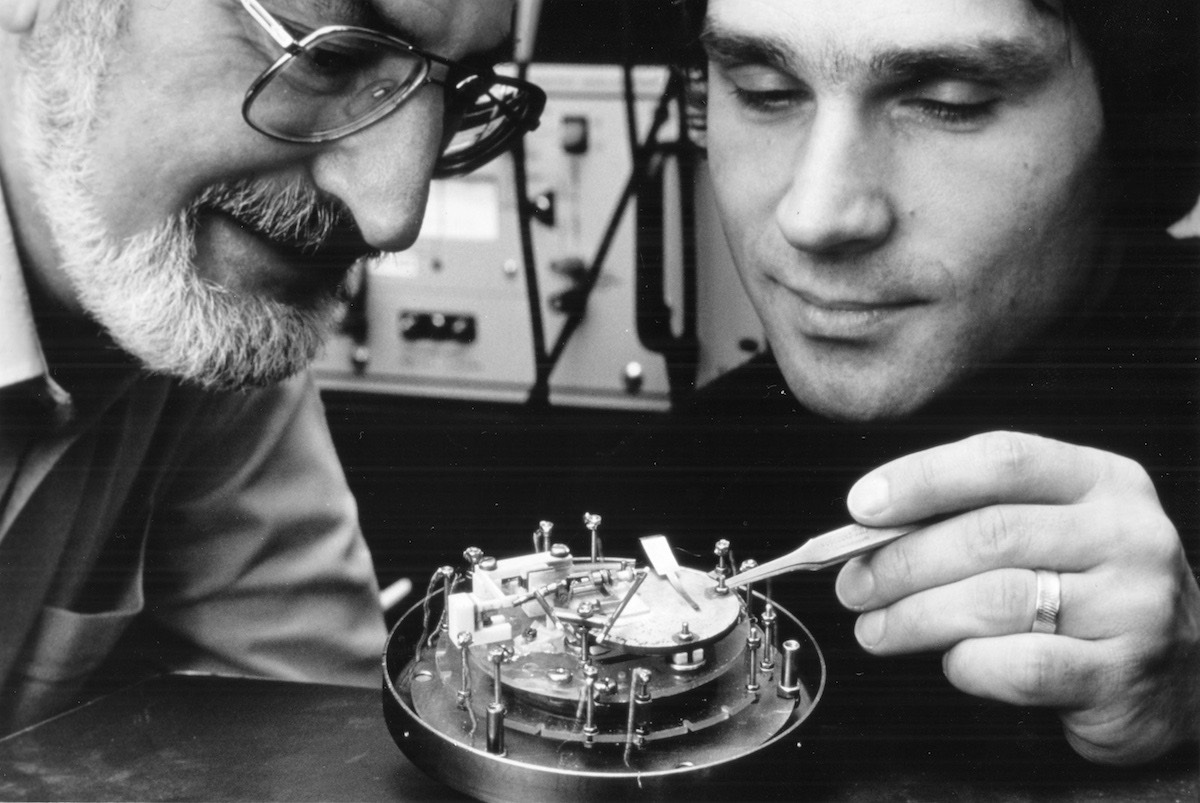 Heinrich Rohrer y Gerd Binnig- IBM