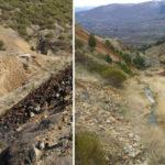 Los contaminantes se dispersan junto con la tierra y el agua