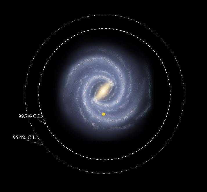 Las nuevas dimensiones de la Via Lactea- Ilustracion de R Hurt, SSC-Caltech, NASA:JPL-Caltech (Imagen de fondo proviene del Roadmap to the Milky Way)
