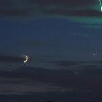 La Luna, Venus y una bola de fuego