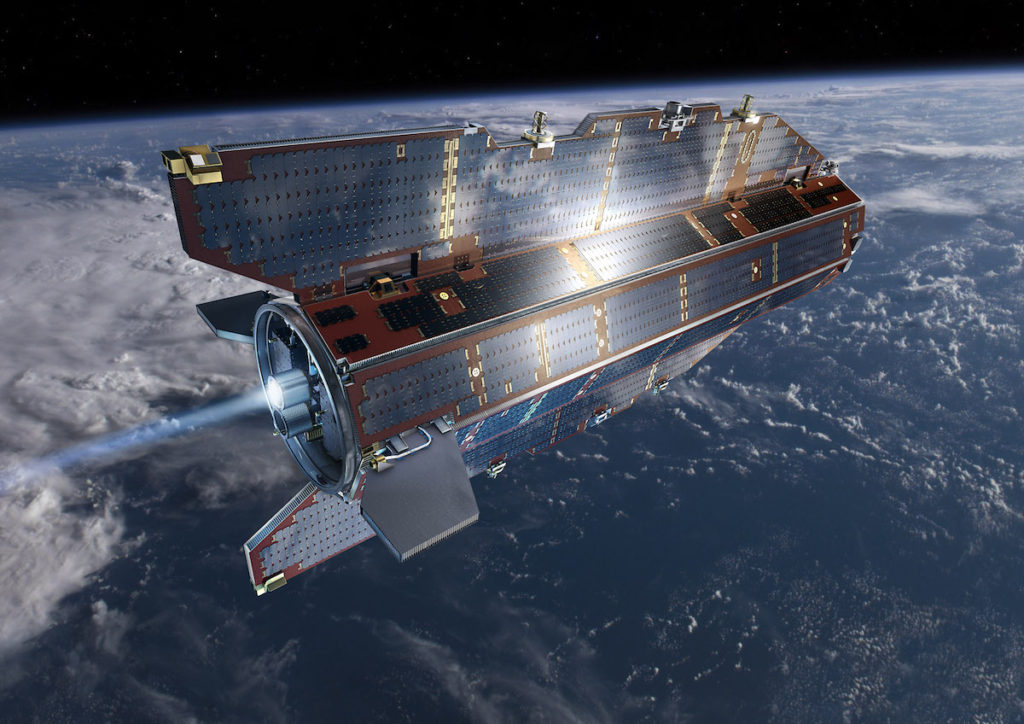 Satélite GOCE en orbita- ESA, AOES Medialab