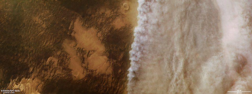 Tormenta de polvo en Marte- ESA/DLR/FU Berlin