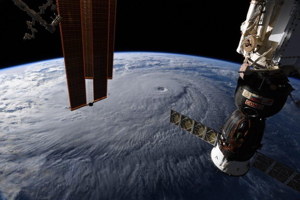 Huracán Lane visto desde la Estación Espacial Internacional- Foto del astronauta Ricky Arnold