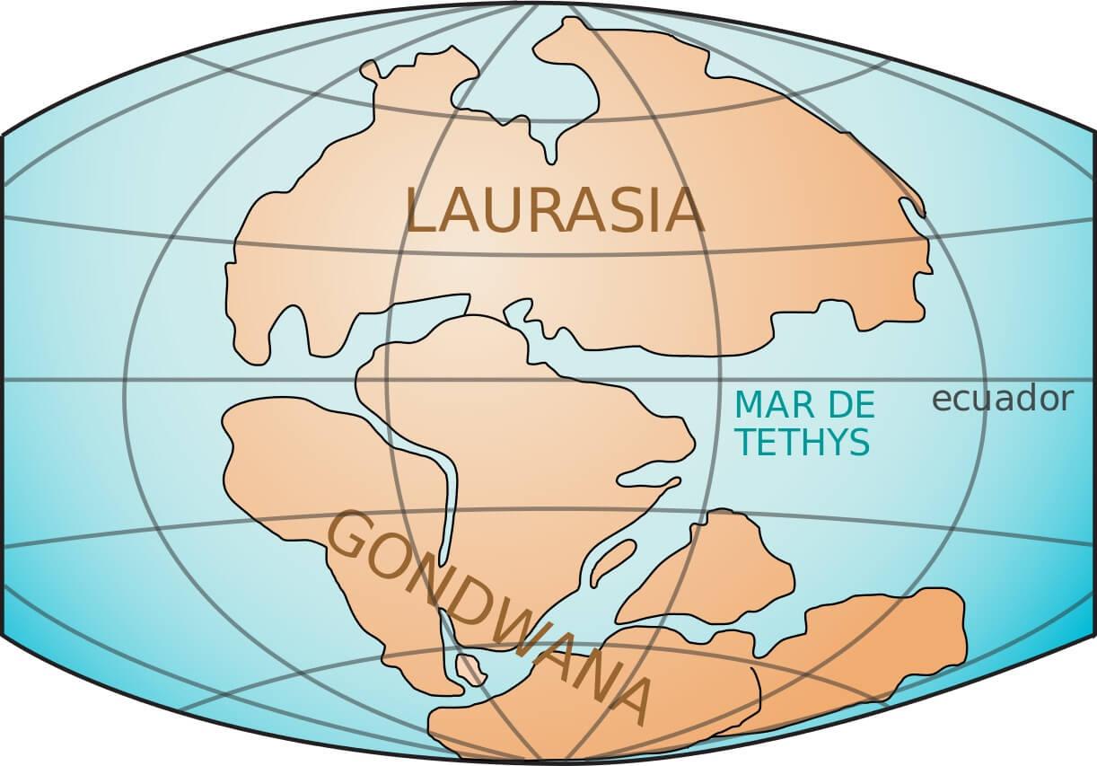 Laurasia y Gondwana