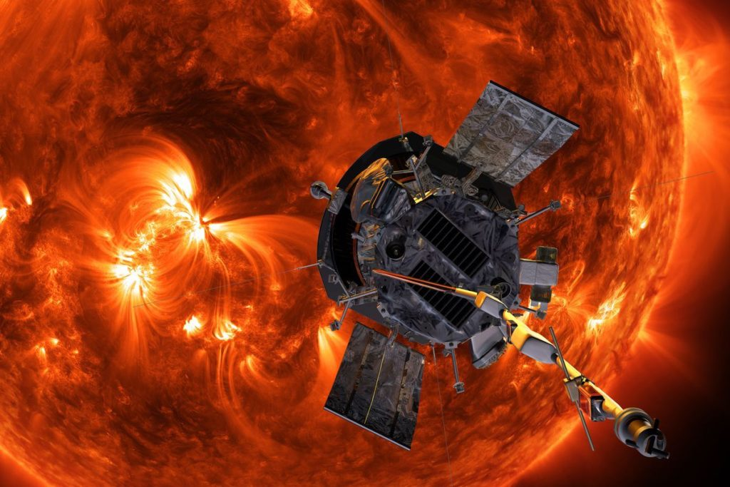 Nave Parker Solar Probe- NASA/Johns Hopkins APL/Steve Gribben
