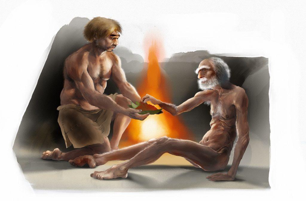 Los neandertales, sí eran solidarios