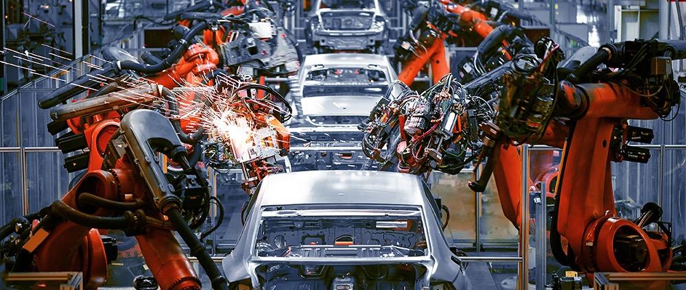 Producción robotizada de autos