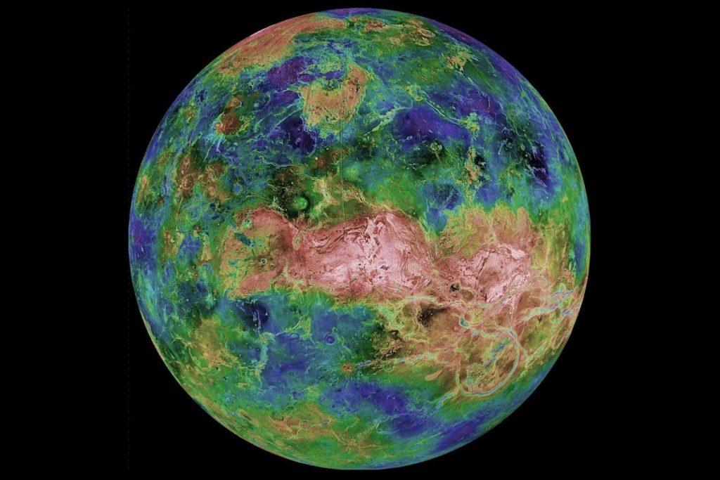 Imagen de Venus obtenida por la sonda Magallanes de la NASA