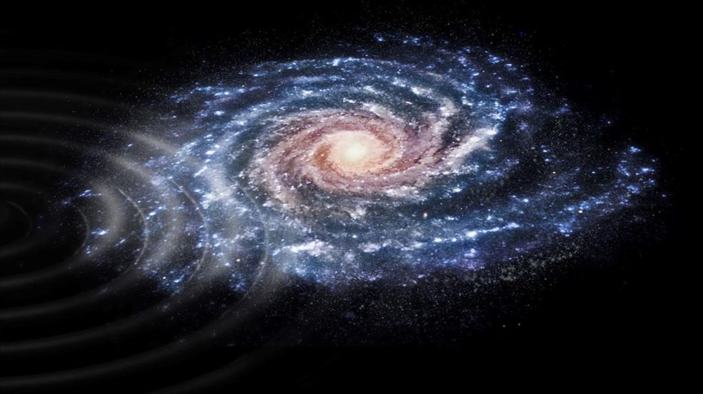 Interpretación artística de la perturbación en las velocidades de las estrellas de nuestra galaxia- JMRue, UB