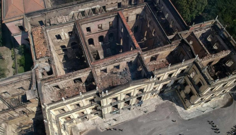 Las ruinas del Museo Nacional de Brasil