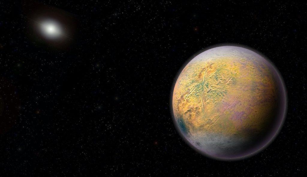 Planeta X o 9- Ilustración de Roberto Molar Candanosa y Scott Sheppard, cortesía de Carnegie Institution for Science