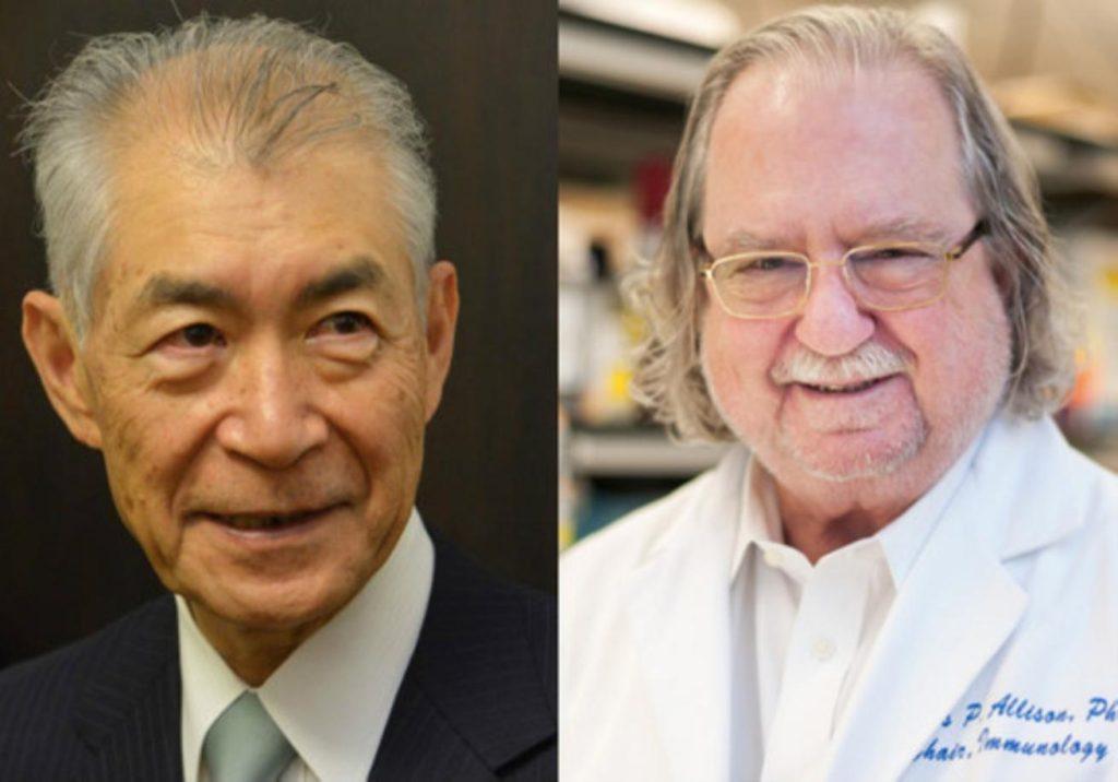 Tasuku Honjo y James P. Allison, ganadores del Premio Nobel de Medicina 2018
