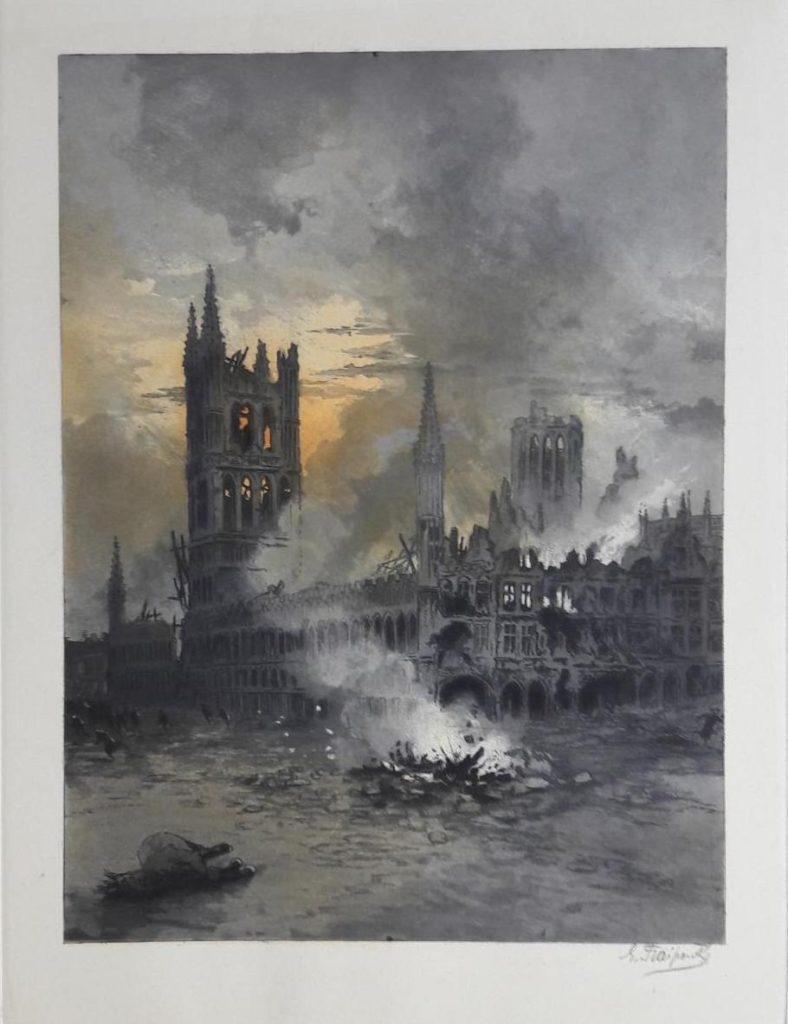 Gustave Fraipont, el pintor de la destrucción por la Primera Guerra Mundial