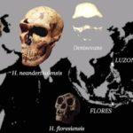 Mapa de ubicación de los homínidos descubiertos