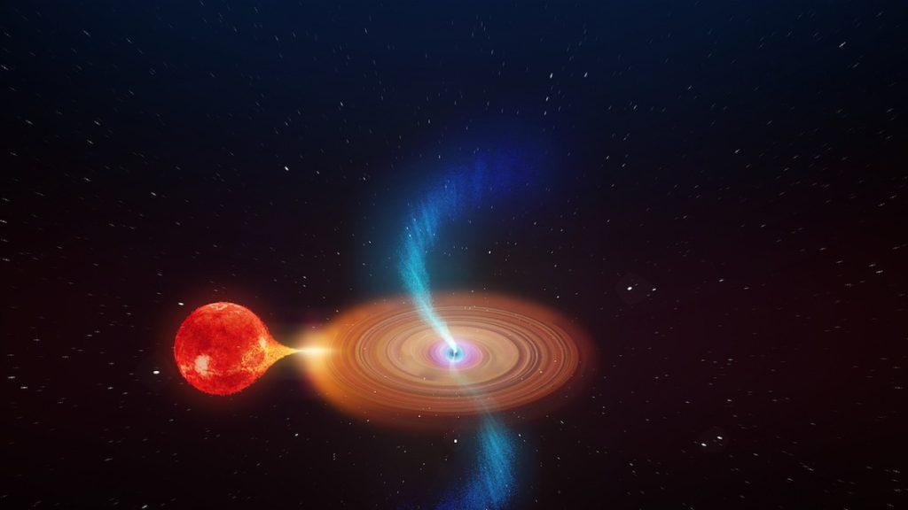Agujero negro absorbiendo material de su estrella compañera- ICRAR