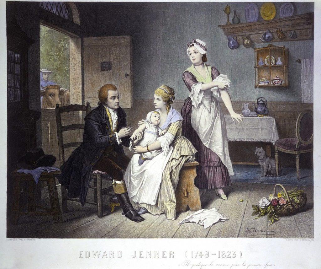 Edgar Jenner vacunando a su hija